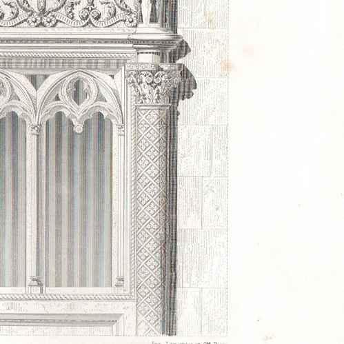 gravures anciennes gravure de dessin d 39 architecte architecture maison des trois fr res. Black Bedroom Furniture Sets. Home Design Ideas