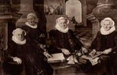 Portrait of Three regents and the Director of the Hospital of Leprous of Amsterdam (Werner van den Valckert)