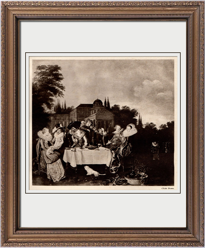 Antique Prints & Drawings   Pastoral Feast (Dirck Hals)   Heliogravure   1910
