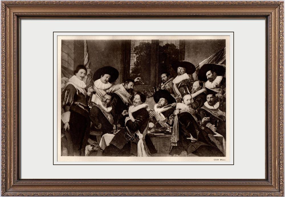 Gravures Anciennes & Dessins | Banquet des Officiers de la Compagnie des Archers de Saint Adrien (Frans Hals) | Héliogravure | 1910