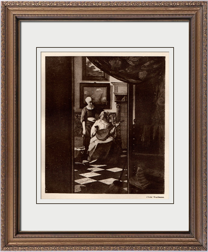 gravures anciennes gravure de la lettre johannes vermeer. Black Bedroom Furniture Sets. Home Design Ideas