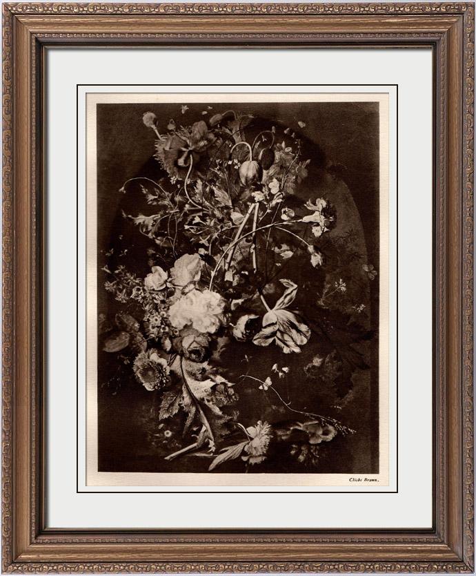Gravures Anciennes & Dessins   Fleurs dans un Vase (Jan van Huysum)   Héliogravure   1910