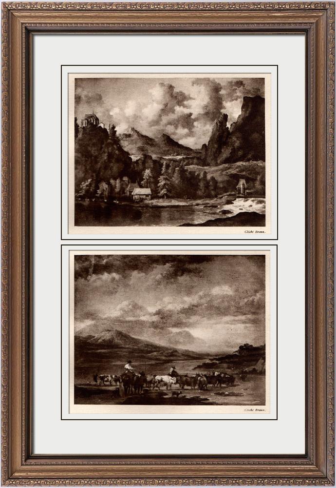 Gravures anciennes rivi re dans une vall e montagneuse allart van everdingen le gu claes - Allart finestre porte ...
