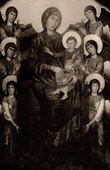 Maest� - Virgin and Child Enthroned surrounded by Angels (Cimabue - Cenni di Pepo)