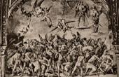 Grabado antiguo - Fresco - Catedral de Orvieto - Juicio Final - Apocalipsis - Condenados en el Infierno (Luca Signorelli)