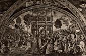 Saint Catherine of Alexandria in front of the Emperor Maximinus (Pinturicchio)