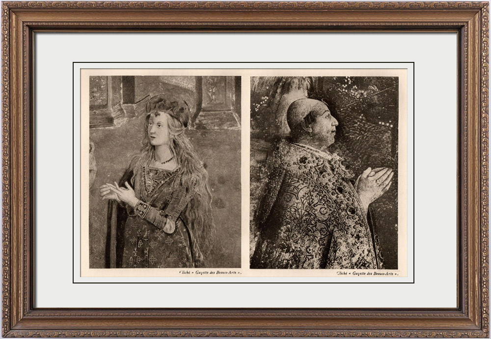 Antique Prints & Drawings   Fresco - Saint Catherine of Alexandria (Pinturicchio) - Pope Alexander VI - The Resurrection of Christ (Pinturicchio)   Heliogravure   1910