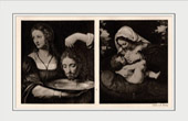 Salome and the Head of Saint John the Baptist (Bernardino Luini) - Maria Lactans - Madonna with the Green Cushion (Andrea Solari)