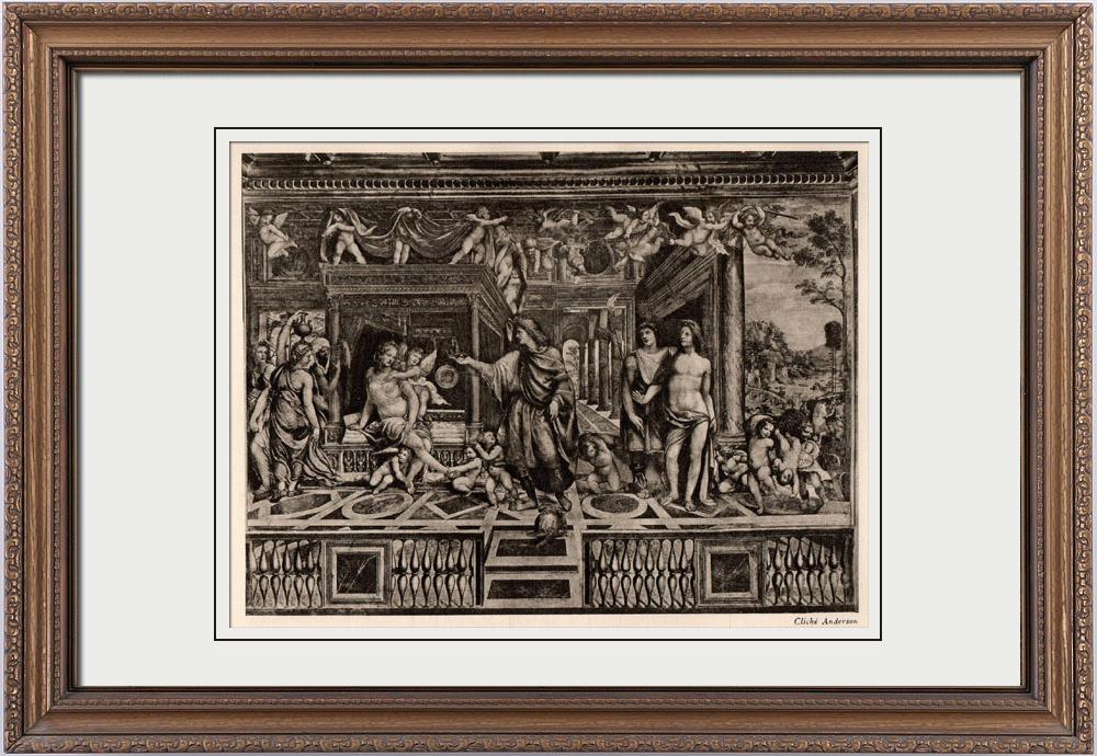 Gravures Anciennes & Dessins | Fresque - Alexandre le Grand - Les Noces d'Alexandre et de Roxane (Le Sodoma) | Héliogravure | 1910