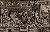 Gravure ancienne - Fresque - Alexandre le Grand - Les Noces d'Alexandre et de Roxane (Le Sodoma)