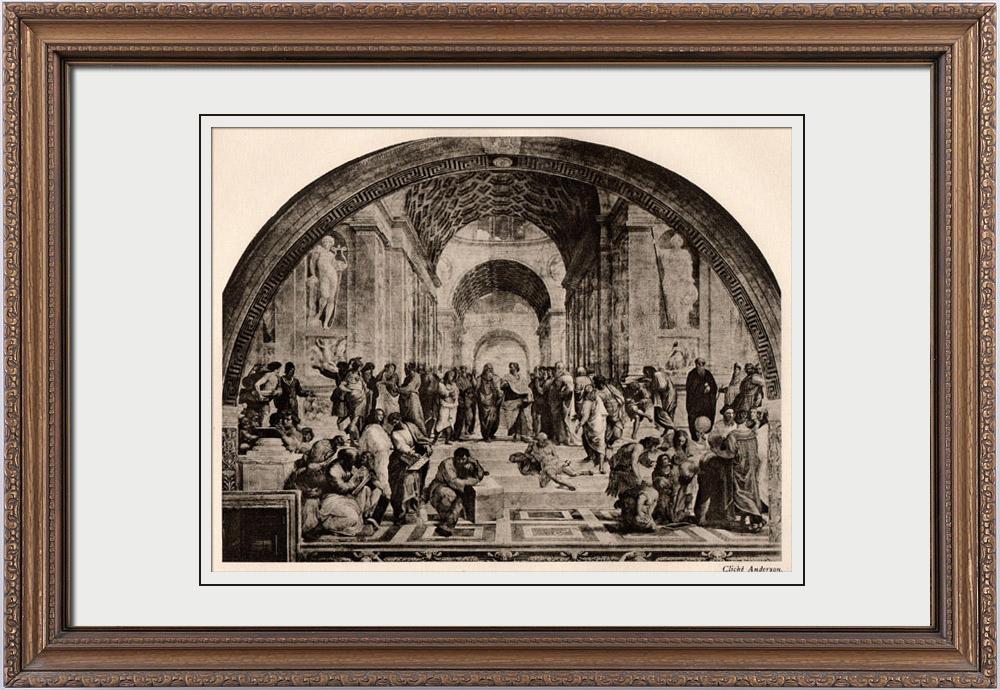 Antique Prints & Drawings | The School of Athens (Raffaello Sanzio called Raphael) | Heliogravure | 1910