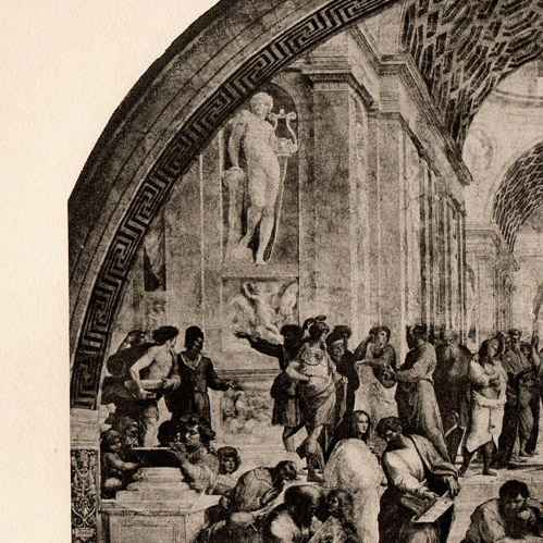 a history of the school of athens by rafael sanzio in 16th century The school of athens by raphael  but it's called school of athens, which came from a 17th century guidebook the school of athens was painted by raphael sanzio .