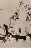 Painting on Rock in Cogul - Cave Painting in Cueva of Vieja - Alpera (Spain)
