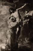 Francis of Assisi - Christ On the Cross (Bartolomé Esteban Murillo)