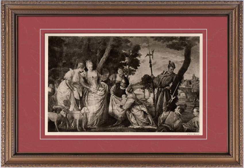 Antique Prints & Drawings | Moses Saved from the Waters of the Nile (Paolo Veronese) | Heliogravure | 1910