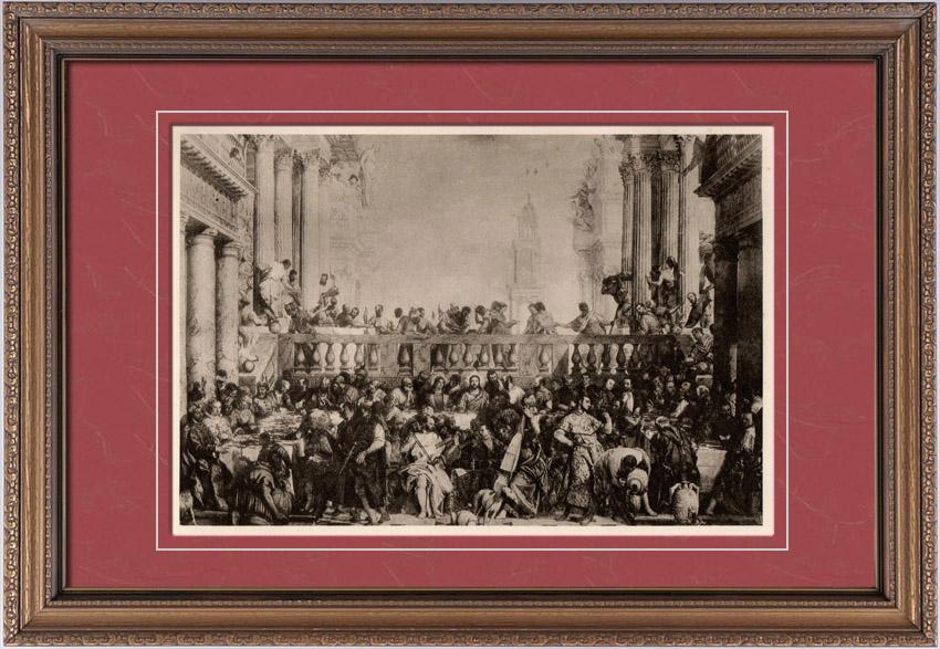 Gravures Anciennes & Dessins   Les Noces de Cana (Paul Veronese ou Paolo Veronese)   Héliogravure   1910