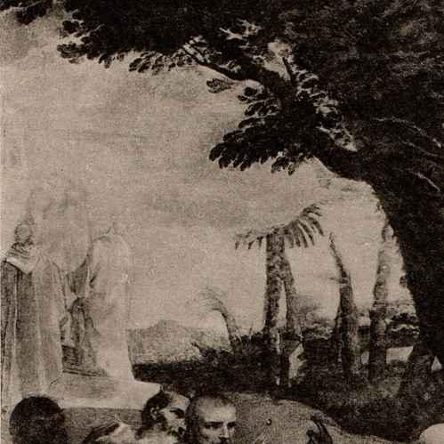 Gravures anciennes la vision de saint romuald andrea for Liquida meuble st romuald