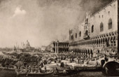 Grand Canal - Reception of the Earl of Gergi in Venice (Canaletto)