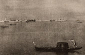 Gondola on the Lagoon in Venice (Francesco Guardi)