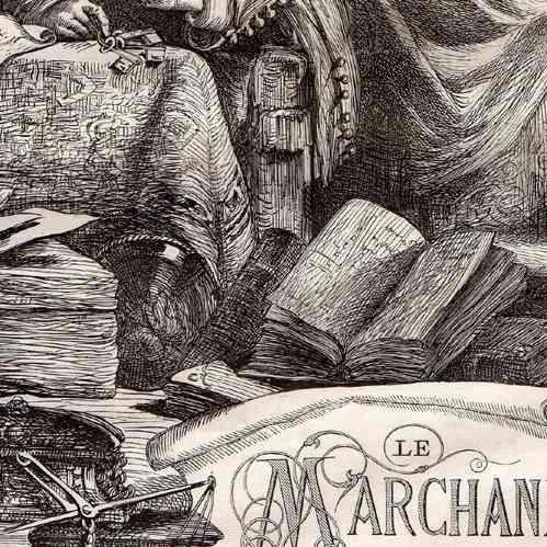 Grabados antiguos el mercader de venecia shakespeare grabado xilogr fico 1870 - El mercader de venecia muebles outlet ...