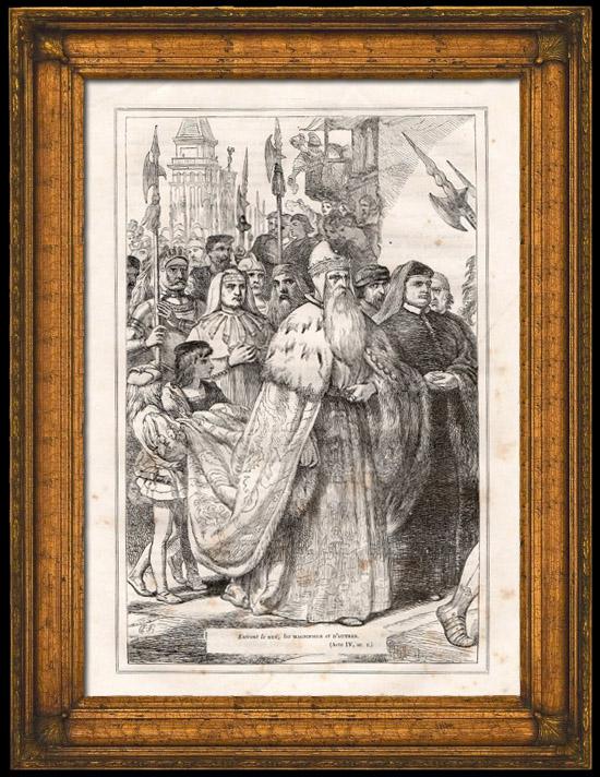 Grabados antiguos el duque de venecia el mercader de - El mercader de venecia muebles outlet ...