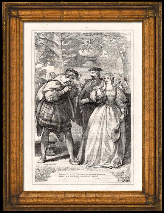Grabados antiguos bassanio y portia 2 el mercader de venecia shakespeare grabado - El mercader de venecia muebles outlet ...