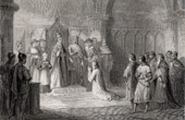Henry IV, Emperor of the Holy Roman Empire of the German Nation Knelt in front of the Pope Gregory VII