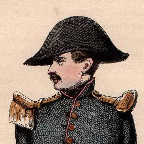 stampe antiche uniforme militare napoleon cadetto della scuola francese gestita dall. Black Bedroom Furniture Sets. Home Design Ideas