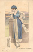 Fashion Plate - French Mode - Parisian Woman - Paris - France - A Nice Dress for the Countryside