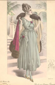Fashion Plate - French Mode - Parisian Woman - Paris - France - Evening dress - Creation Georgette