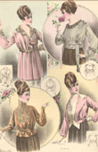 Fashion Plate - French Mode - Parisian Woman - Paris - France - Four Creations Liberty