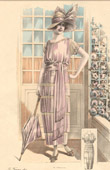 Fashion Plate - French Mode - Parisian Woman - Paris - France - A Simple Dress for the Countryside