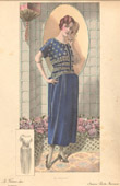 Fashion Plate - French Mode - Parisian Woman - Paris - France - Dress - Creations Berthe Hermance