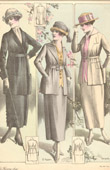 Fashion Plate - French Mode - Parisian Woman - Paris - France - Suit - Tailleurs Légers - Creation Georgette & Creation Rossen