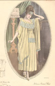 Fashion Plate - French Mode - Parisian Woman - Paris - France - At Home - Creation Beer