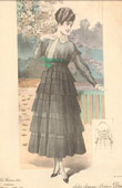 Fashion Plate - French Mode - Parisian Woman - Paris - France - Dress - Sobre Elégance - Creation Drecoll
