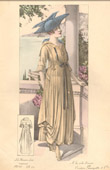 Fashion Plate - French Mode - Parisian Woman - Paris - France - Dress - French Riviera - A la Côte d'Azur - Creation Georgette