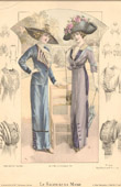 Print of Fashion Plate - French Mode - Parisian Woman - Paris - France - Le Salon de la Mode