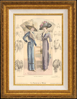Fashion Plate - French Mode - Parisian Woman - Paris - France - Le Salon de la Mode