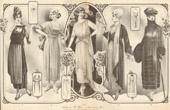 Fashion Plate - French Mode - Parisian Woman - Paris - France - Coiffures de B. Henry - 60 Rue Turbigo