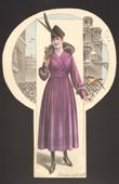 Fashion Plate - French Mode - Parisian Woman - Paris - France - Coat - Manteau Confortable
