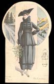 Fashion Plate - French Mode - Parisian Woman - Paris - France - Coat - Pour le Printemps
