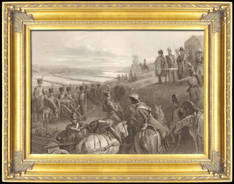 Stampe antiche stampa di guerre napoleoniche campagna for Stampe di campagna francese