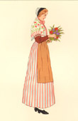 French Regional Costumes - Traditions and Folklore - Regions of France - Lorraine - Nancy