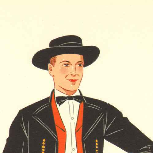 Grabados antiguos trajes regionales franceses for Tipico de francia