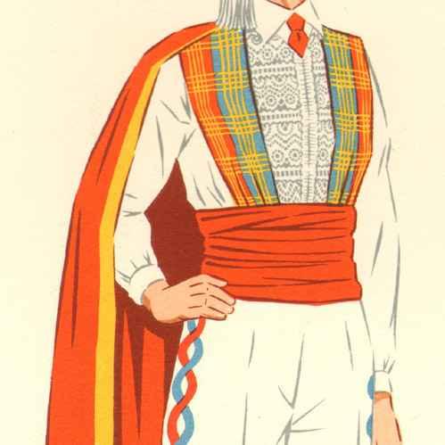 Grabados antiguos trajes regionales franceses for Entrantes tipicos franceses