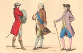 French Fashion History - Costumes of Paris - 18th Century - XVIIIth Century - Louis XVI - Habillement � l'Anglaise - Habit de Cour - Chapeau Suisse (1778-1780)