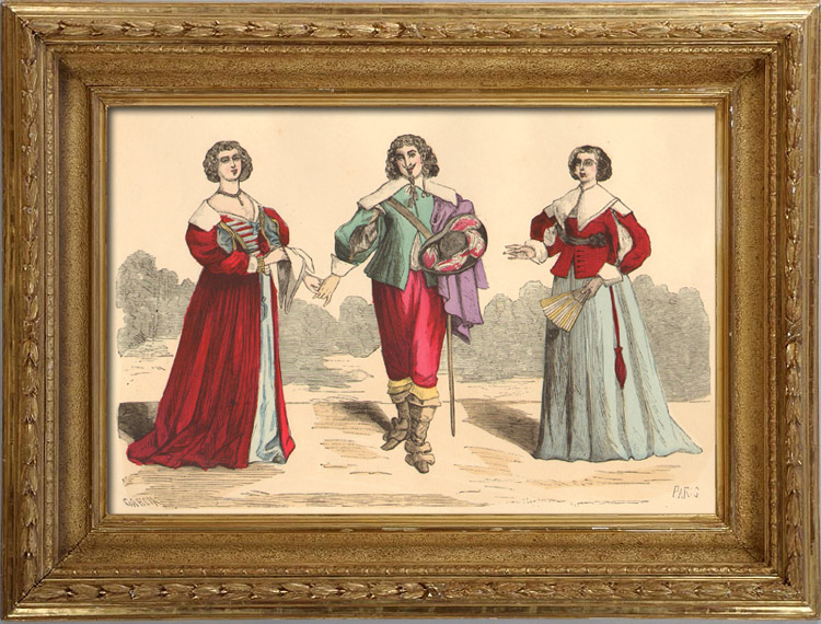 French Fashion History - Costumes of Paris - 17th Century - XVIIth Century ...