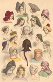 French Fashion History - Hairstyle - Headdress - Hat - 15th/16th Century - XVth/XVIth Century - Woman
