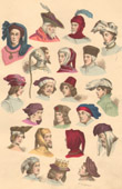 French Fashion History - Hairstyle - Headdress - Hat - 14th/15th Century - XIVth/XVth Century - Men